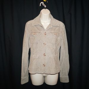 CASLON Corduroy Jacket Heavy Shirt Womens S Tan